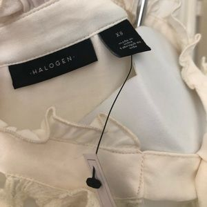 Halogen Tops - Halogen Cream Silk Blend Blouse Size XS